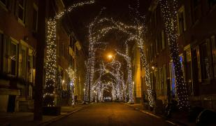 1700 Addison christmas lights