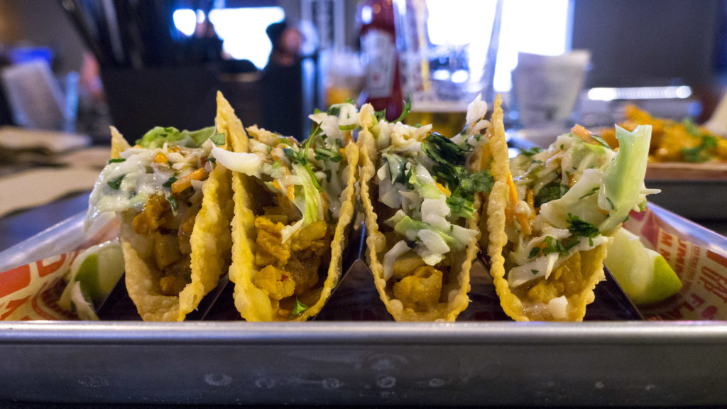Wonton tacos are surprisingly good
