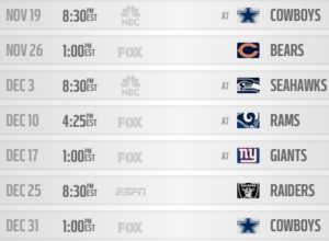 Eagles remaining schedule