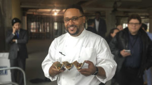 Chef Kevin Sbraga at the future Fitler Club