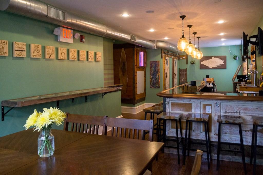 The upstairs bar at Keen