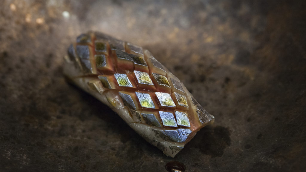 Sanma (mackerel pike) nigiri at Royal Izakaya