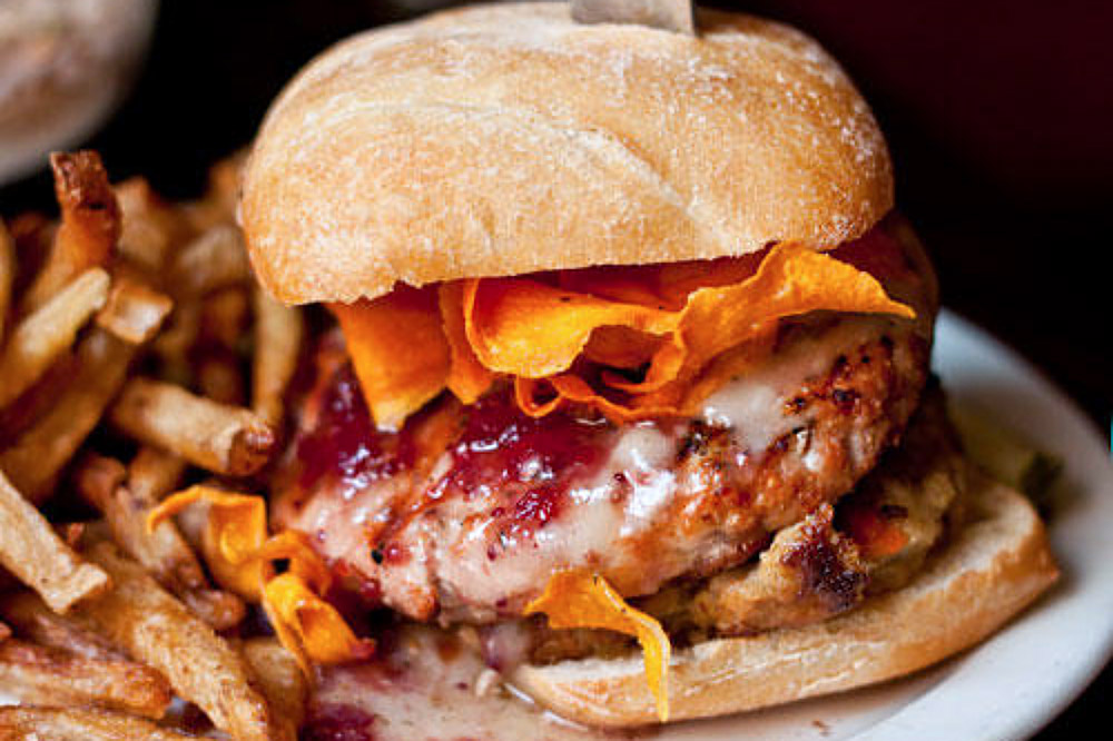 Turducken Burger at Smokin' Betty's