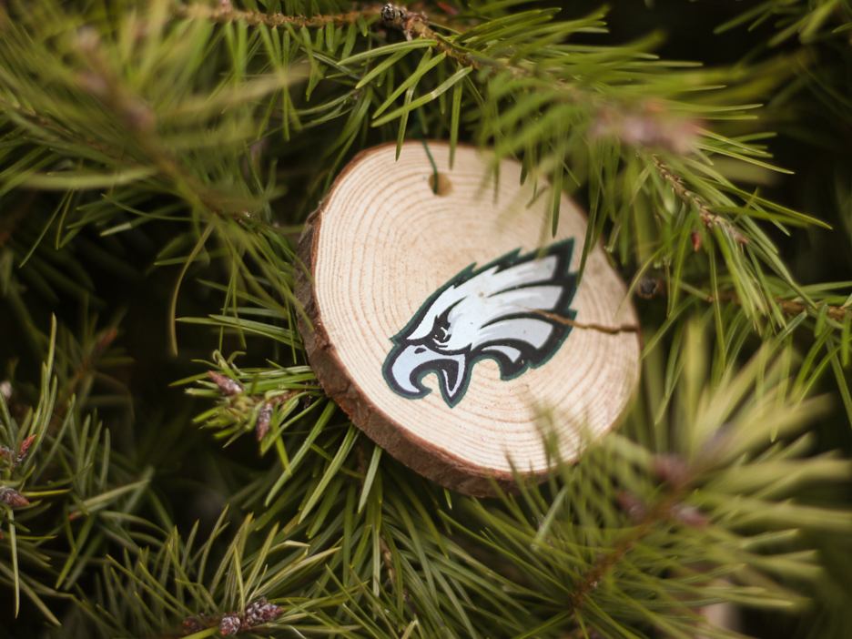An Eagles ornament for anyone you know who bleeds green.