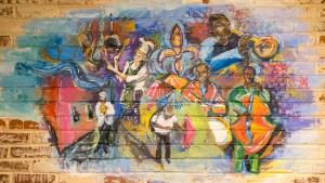 Custom mural at Acadia