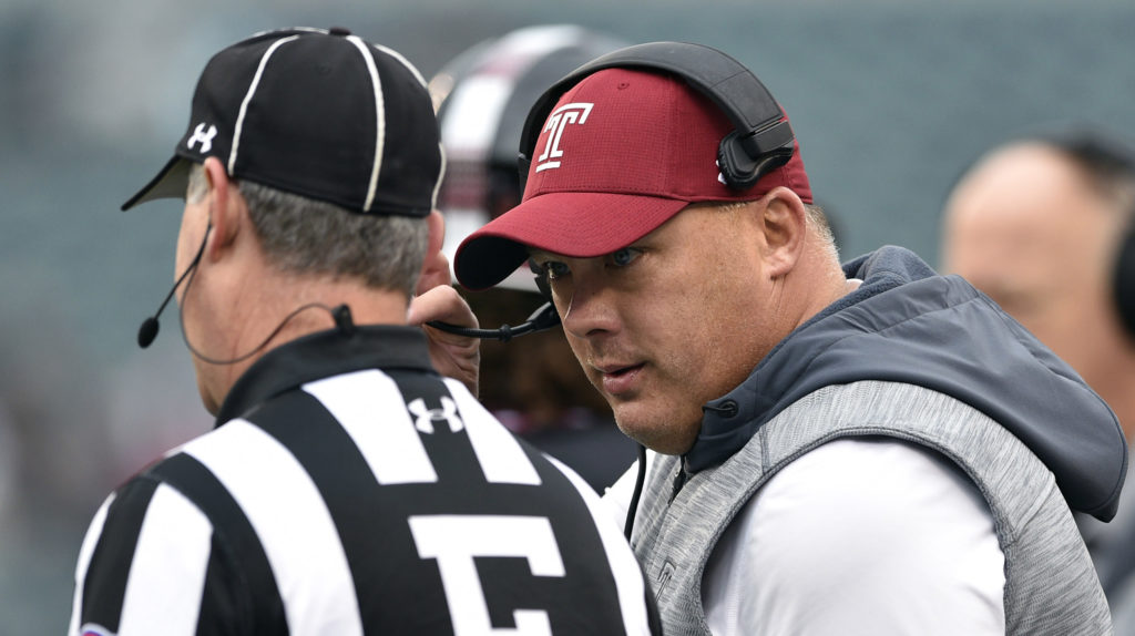 Temple head coach Geoff Collins