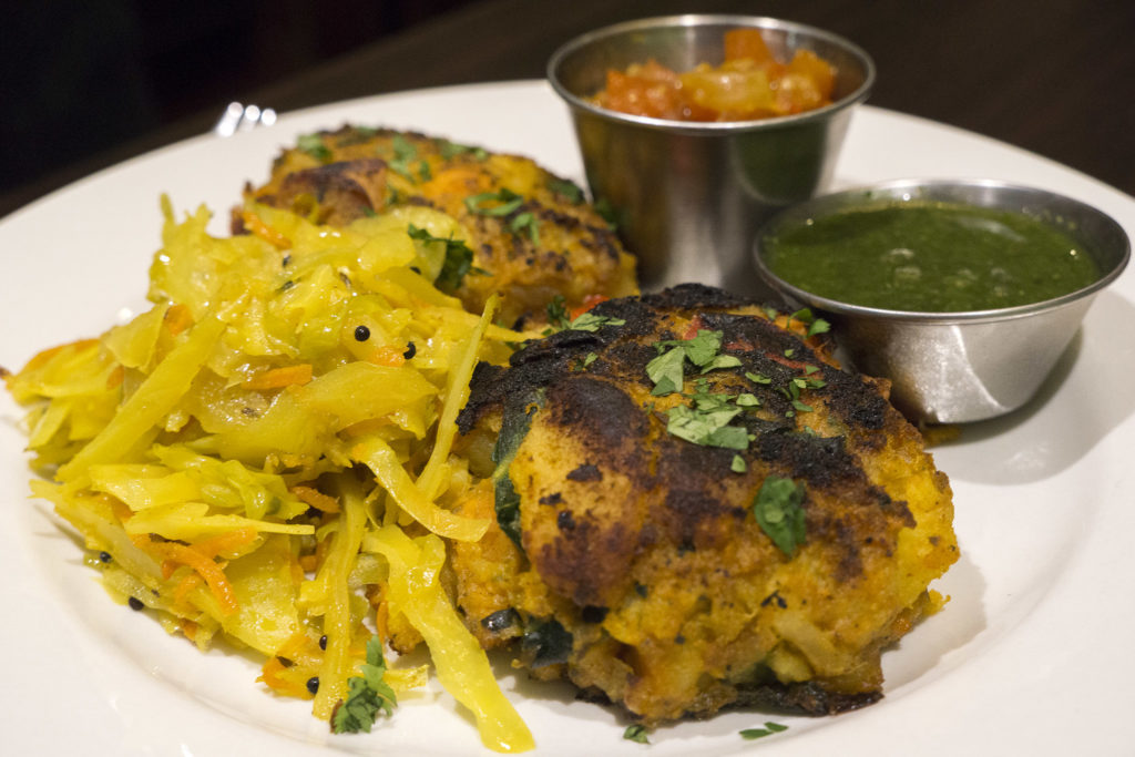 Vegetable fritters at The EAT Cafe