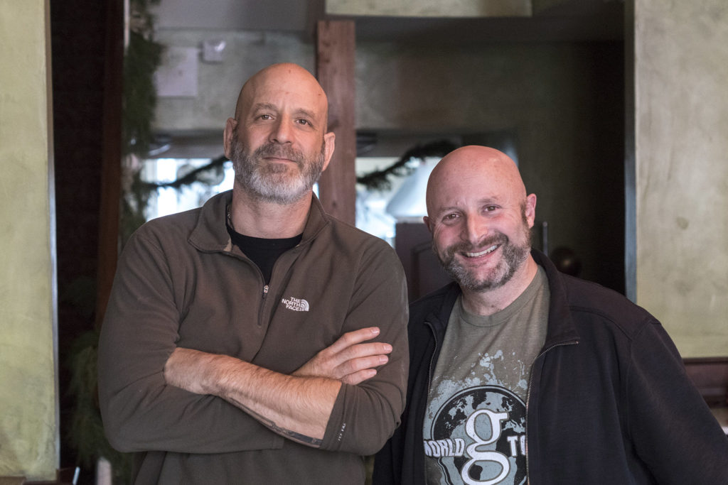 Marc Vetri and Jeff Benjamin at Vetri Cucina, Dec. 2017