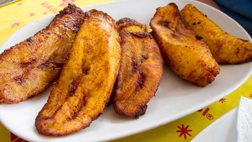 Plantains stand in for noodles in a traditional Dominican New Year's dish
