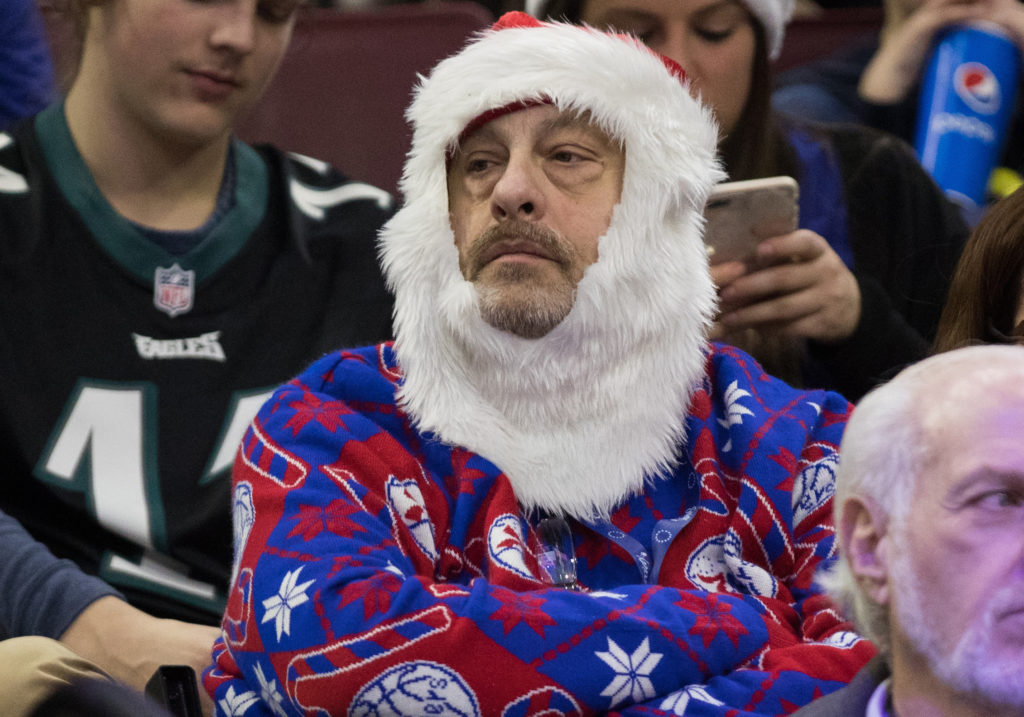 Yeah...this guy's not leaving until after the Eagles game is over.