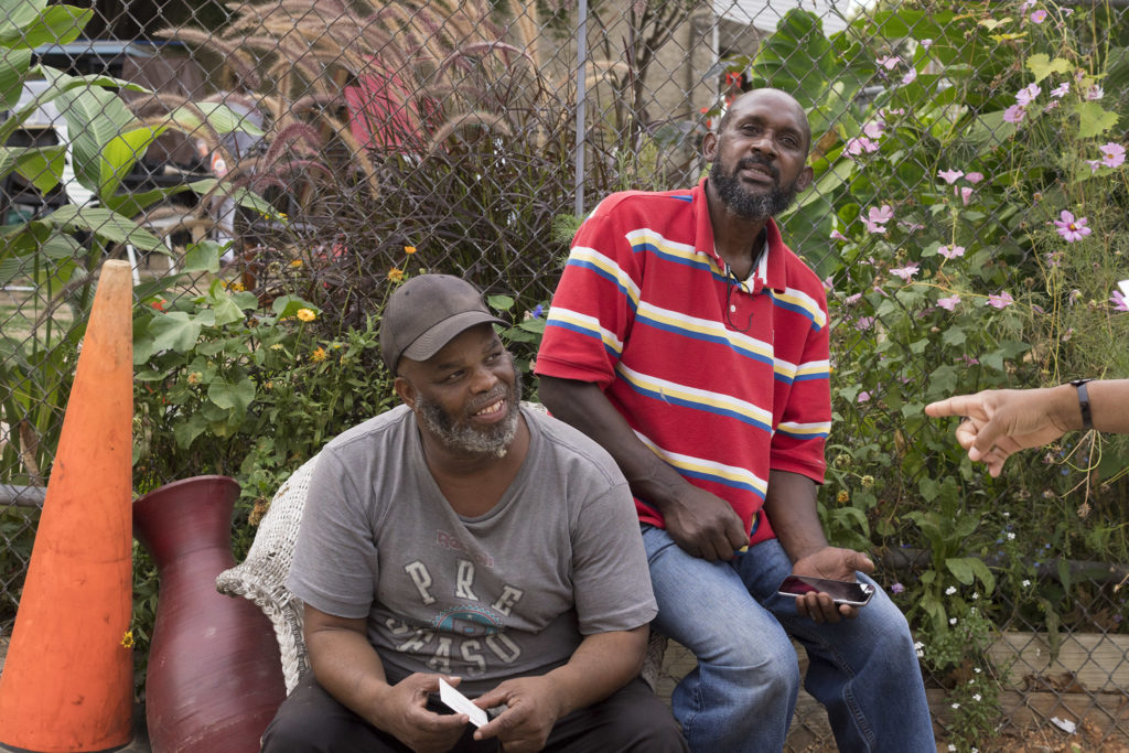 Longtime Strawberry Mansion residents 'Big Dino' and 'Big Spider'
