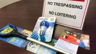 "The city will hand out ""toolkits,"" complete with blue light bulbs, to Kensington and Fairhill residents this month."