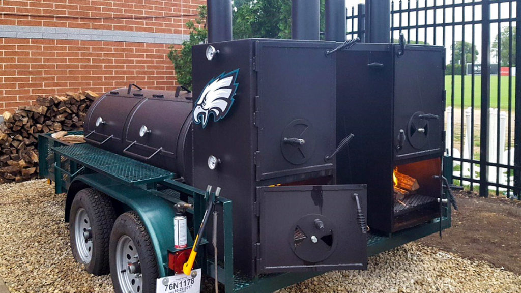 There's a brand new smoker out back at the Eagles training center