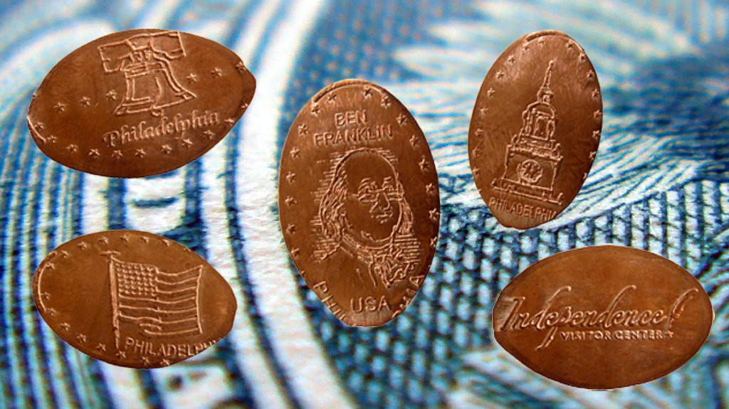 Independence Hall penny souvenirs