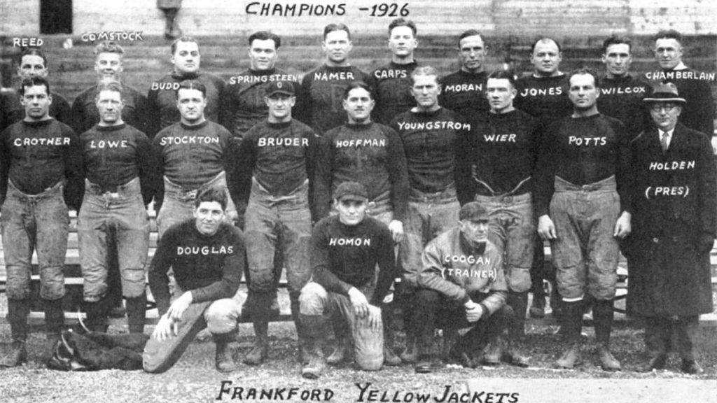 The 1926 Frankford Yellow Jackets