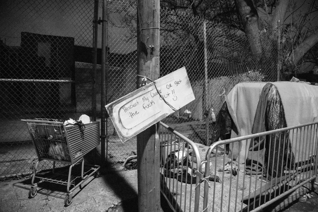 A former Kensington homeless encampment