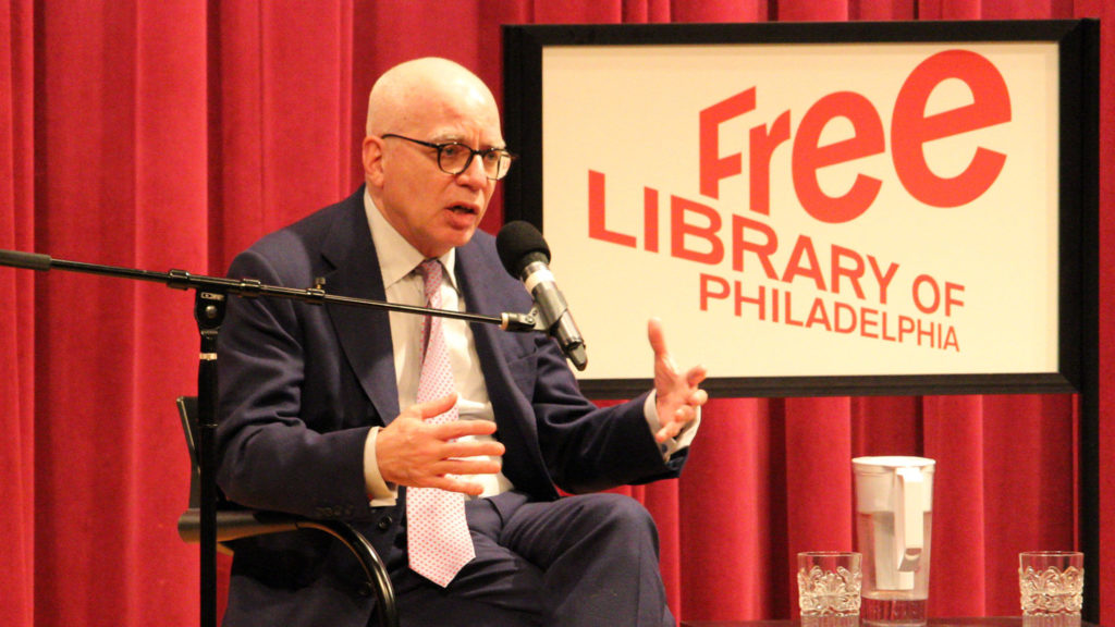 Michael Wolff speaks at Philly's Parkway Central Library on Jan. 16, 2018