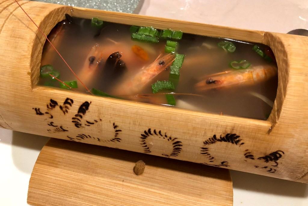 Shrimp soup at Ocean Harmony