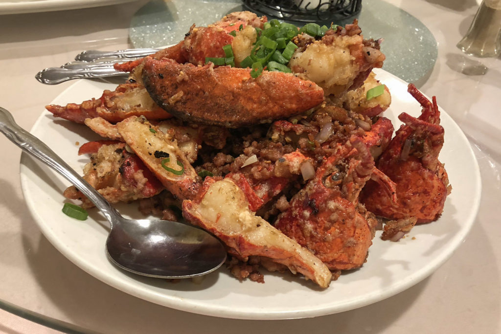 Stir-fried lobster at Ocean Harmony