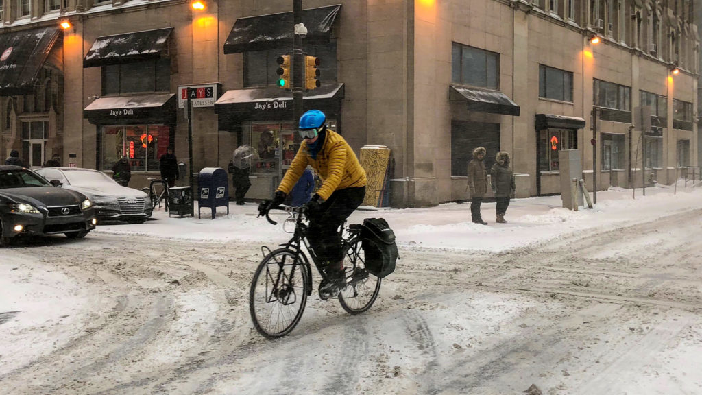 The Bicycle Coalition of Greater Philadelphia said you should only bike in this weather if you absolutely have to.
