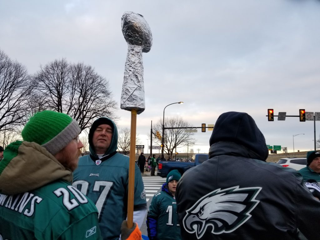 Some people made their own Lombardi Trophies