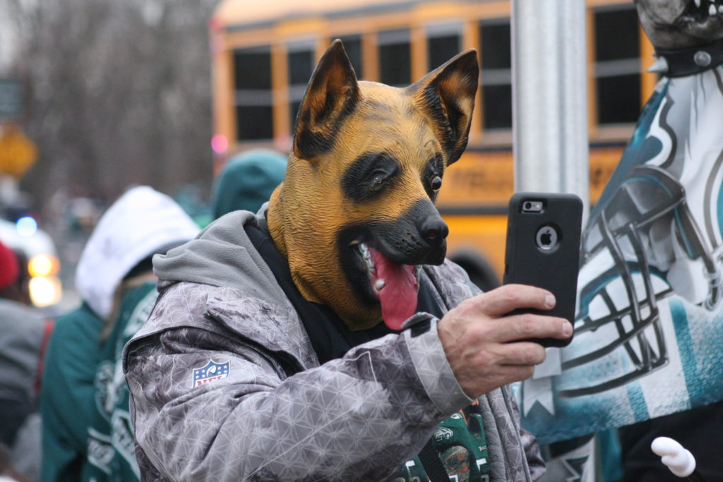 Dog mask selfies are a thing