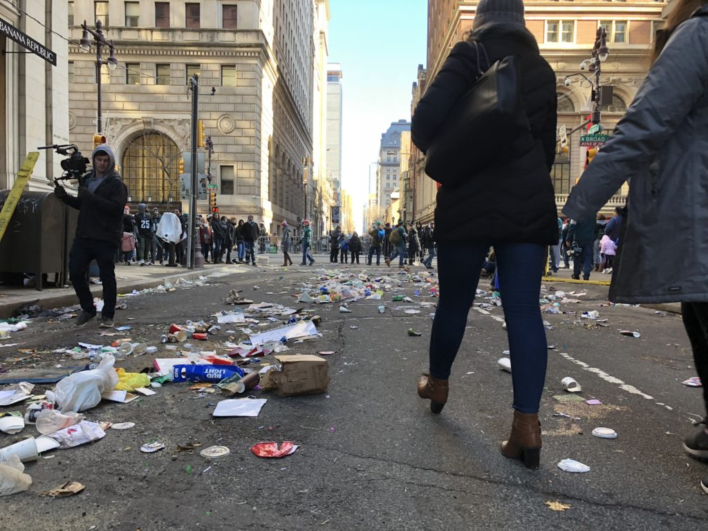 Broad Street was also a mess