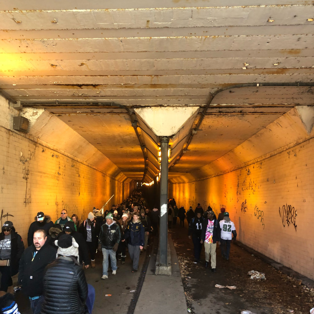 To get around, some used the underground tunnels