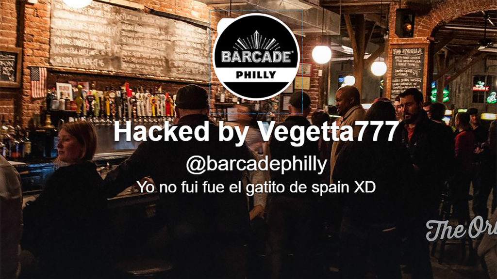 Barcade Philly's Twitter got hacked by black market account