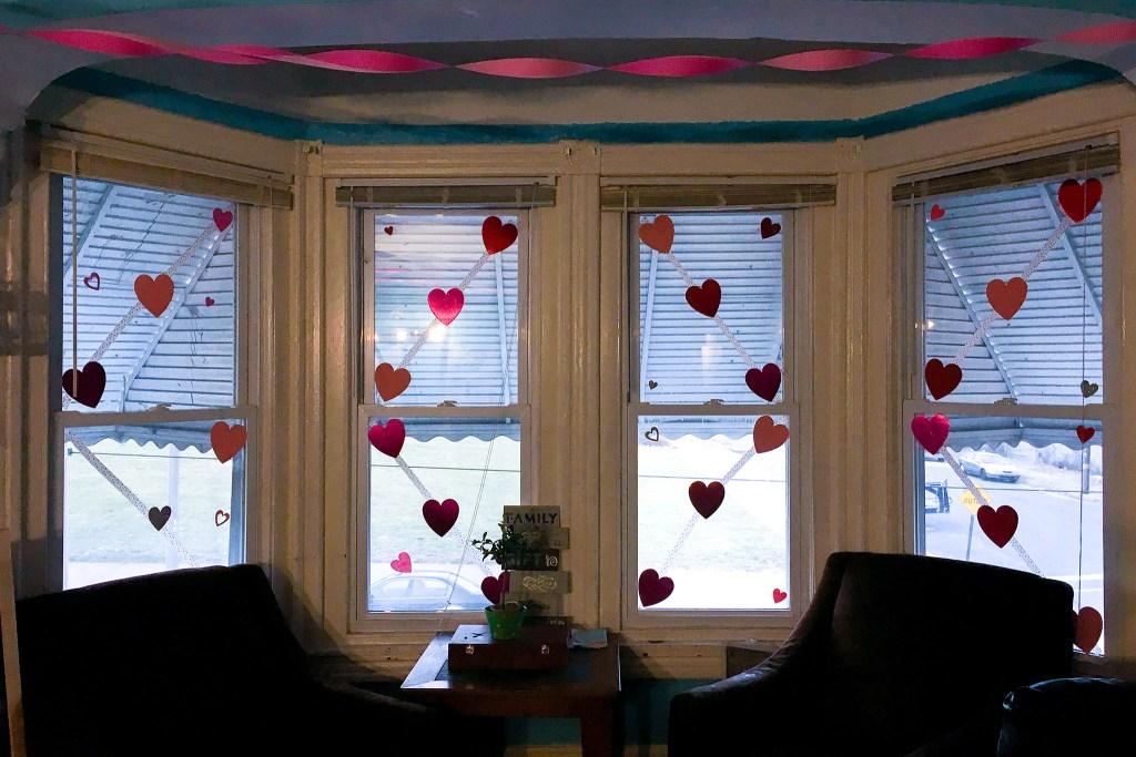 Samantha Regalbuto's Valentine's Day decorations at Morris House