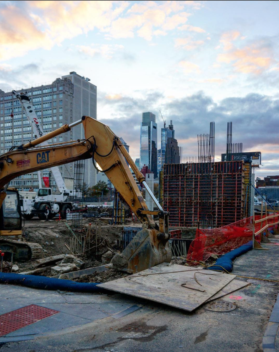The @phillyrises Instagram account documents city construction.