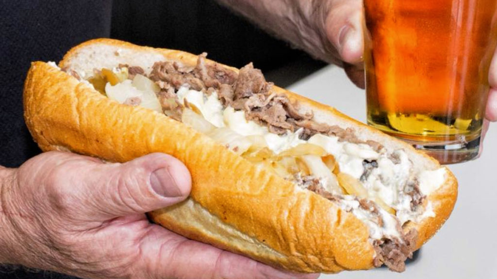 A cheesesteak at Philly's Best in Chicago