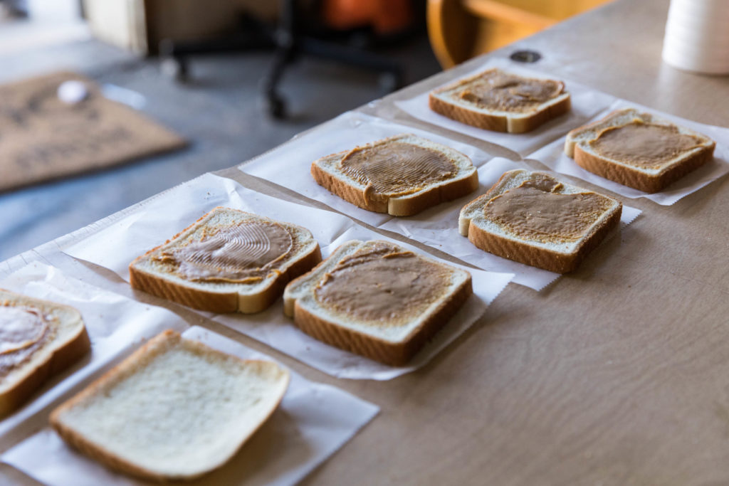 Free PB&J sandwiches provided by Last Stop outreach workers