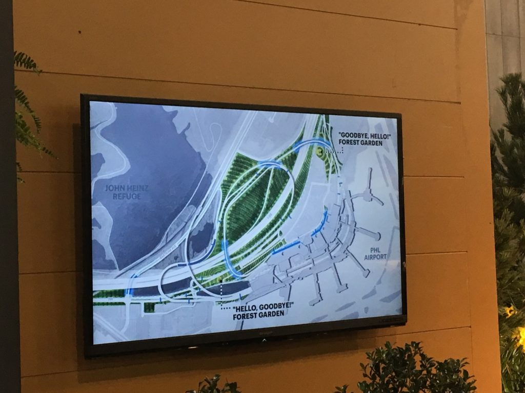 The entry and exit gardens proposed by one PHL airport design team