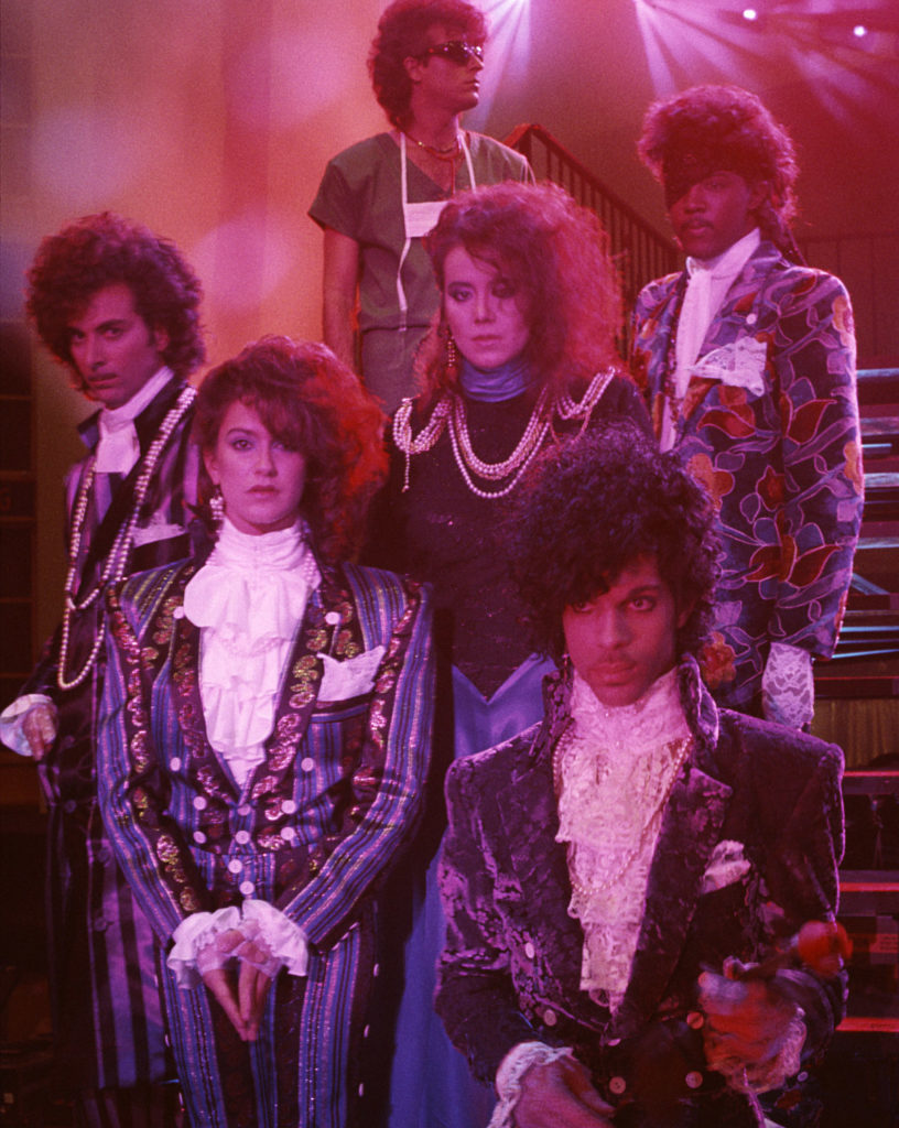 Melvoin with Prince and the rest of the Revolution, back in the day
