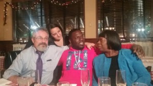 Donte Rollins with staff members from the Pennsylvania Innocence Project