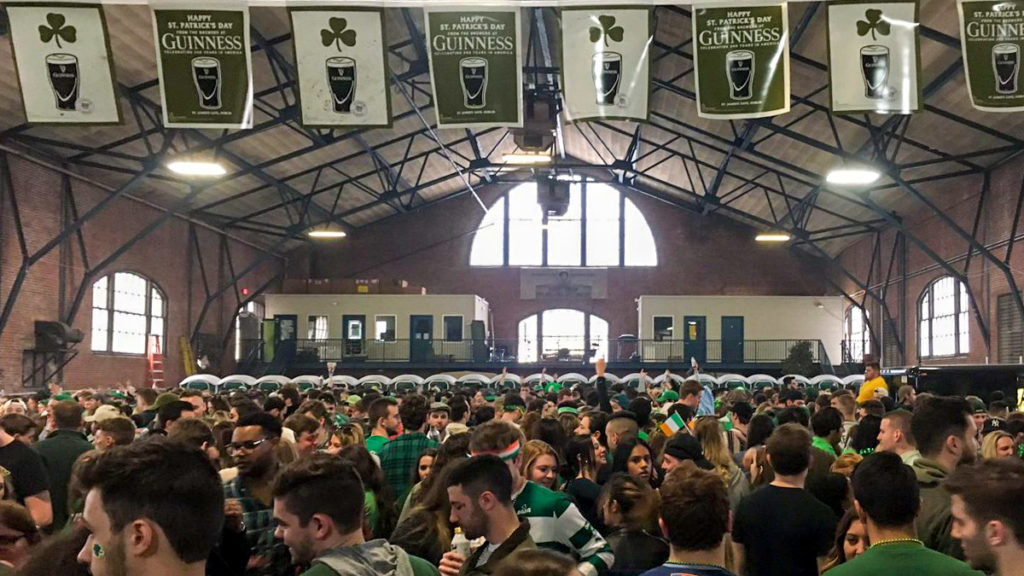 St. Paddy's partiers take over 'the warehouse' aka the 23rd Street Armory