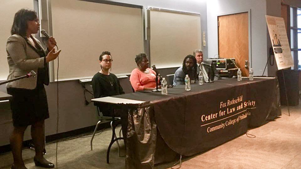Legal advisors speak at a recent clinic