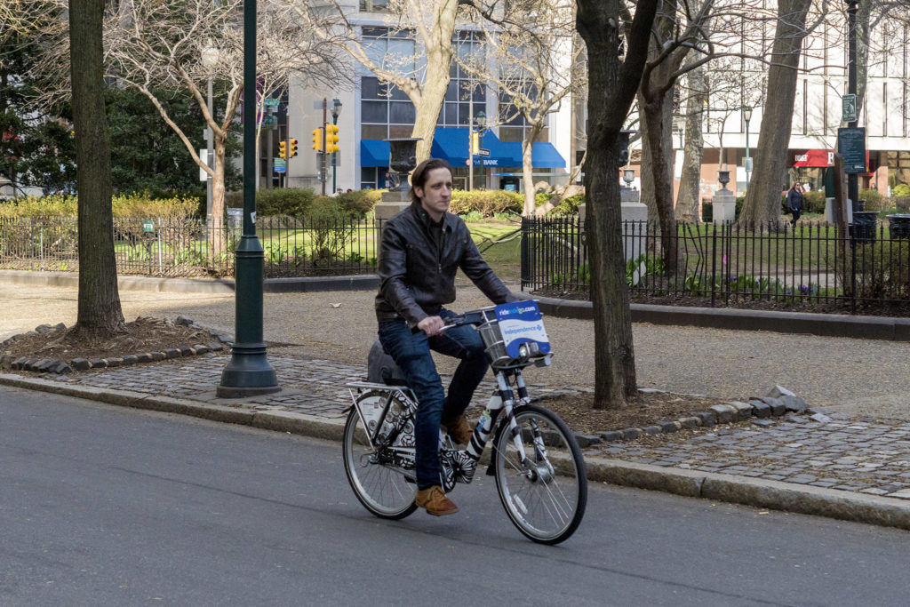 Riding an Indego bike