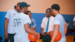 Isaiah Thomas coaches schoolkids at Sankofa Freedom Academy in North Philly