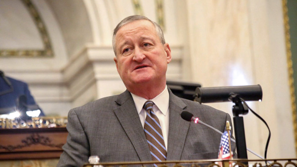 Mayor Jim Kenney delivers his budget address on March 1, 2018.