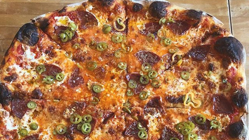 The arrabiata pie at Pizzeria Beddia