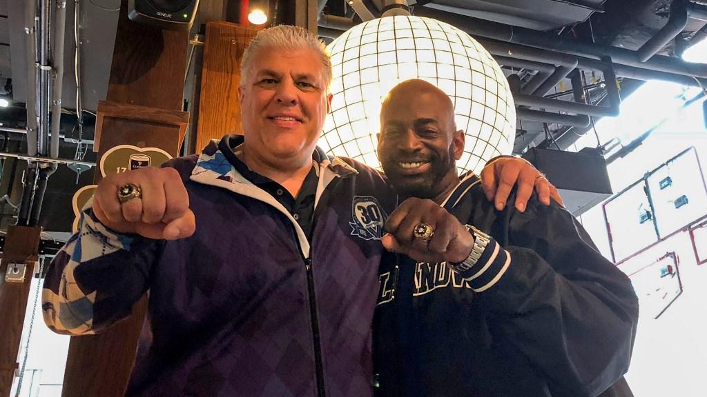 Chuck Everson and Connally Brown of the '85 Villanova Wildcats