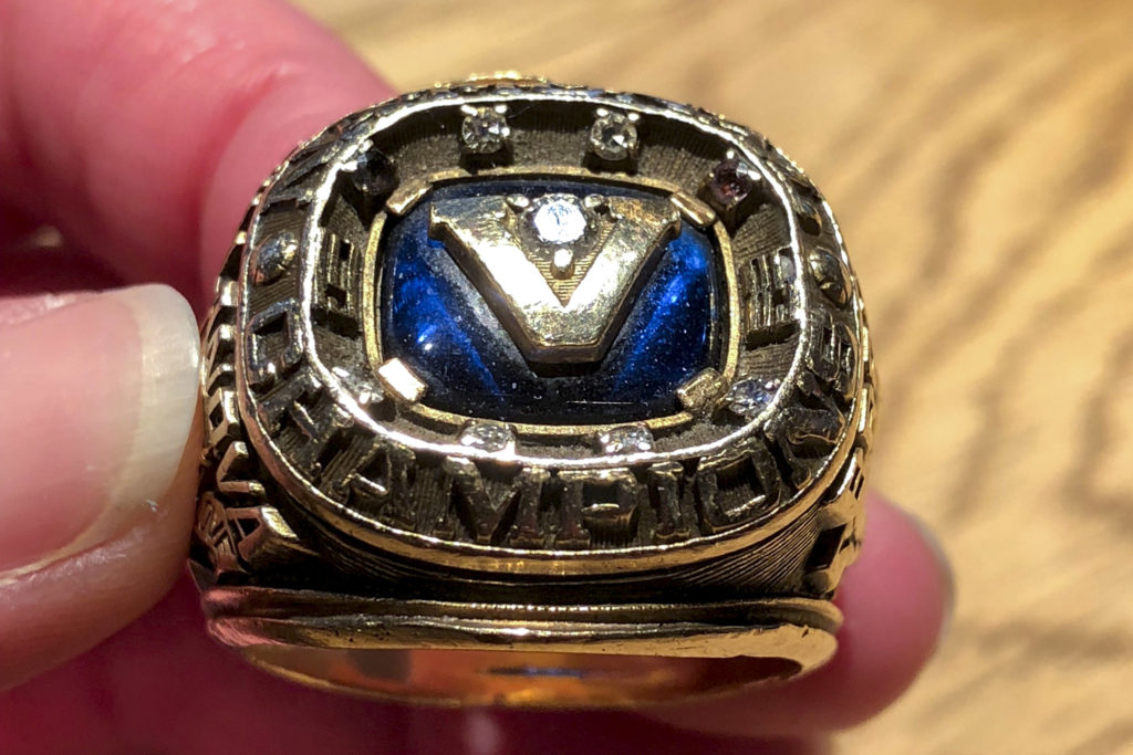 The 1985 championship ring up close