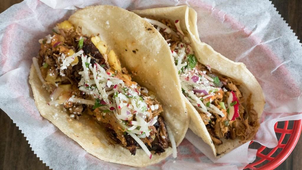 Pork tacos at Heffe