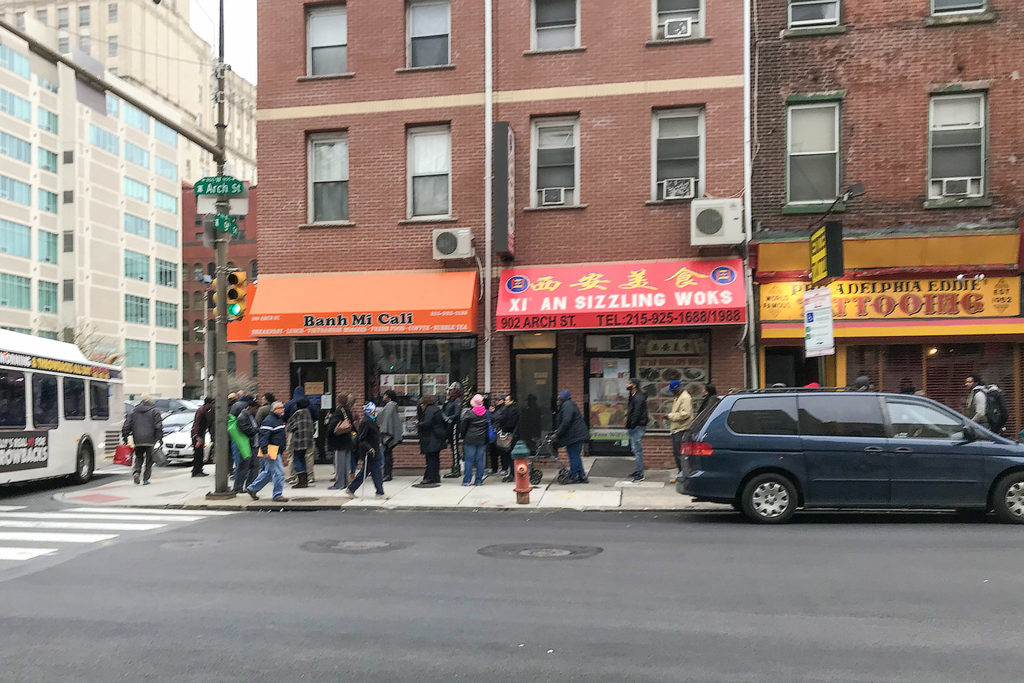 The line outside the PPA office on the last day of parking amnesty