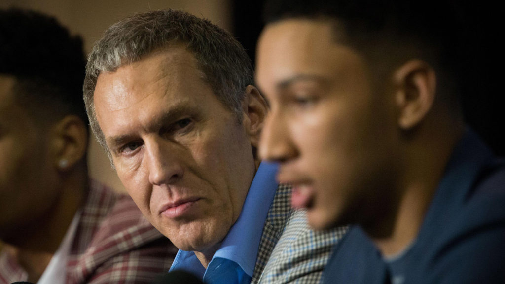 Sixers president of basketball operations Bryan Colangelo at a 2016 press conference introducing Ben Simmons