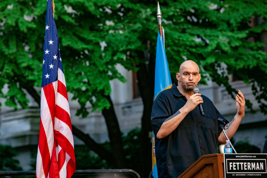 Rally for John Fetterman with Bernie Sanders at Philadelphia City Hall