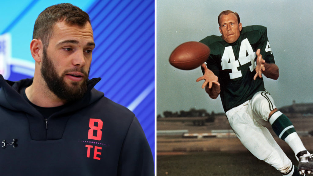 Eagles draft pick Dallas Goedert and Eagles legend Pete Retzlaff went to the same school