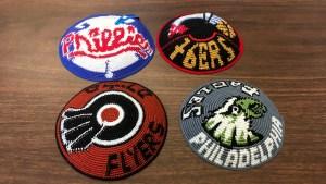 Some of School District CFO Uri Monson's yarmulke collection